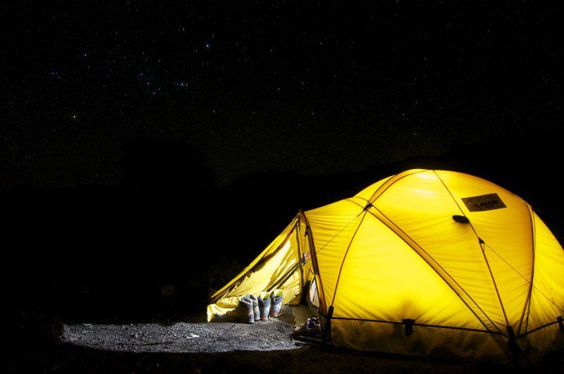 camping sleep